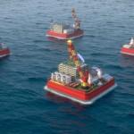 Опреснительная платформа в море