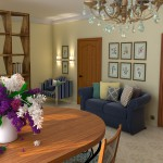 визуализация квартиры-студии