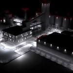 Завод. Ночной вид
