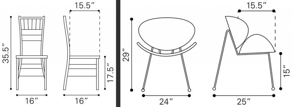 Чертежи мебели для моделирования