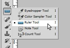 Выбор Ruler tool