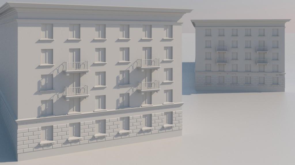Модель фасада жилого дома